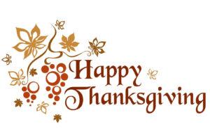 Office Closure - Happy Thanksgiving