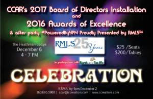 2017 Board of Directors Installation and 2016 Awards of Excellence @ The Heathman Lodge | Vancouver | Washington | United States
