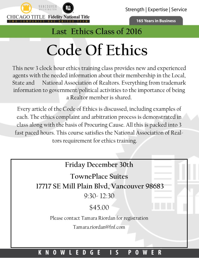 Code Of Ethics Ccar
