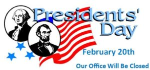 CCAR Office closed for President's Day