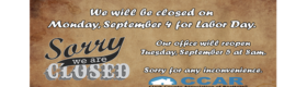 Labor Day Office Closure