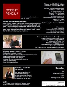 Does It Pencil? The Tax Course @ CCAR | Vancouver | Washington | United States