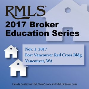 RMLS 2017 Broker Education Series @ Red Cross Building - FVNT | Vancouver | Washington | United States