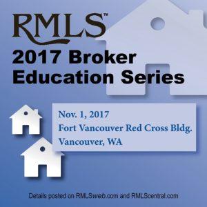 RMLS 2017 Broker Education Series @ Red Cross Building - FVNT | Vancouver | Washington | United States