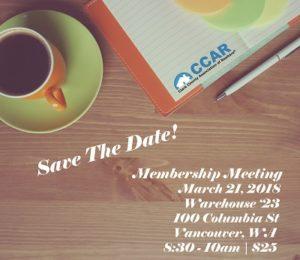 Membership Breakfast Meeting @ Warehouse '23 | Vancouver | Washington | United States