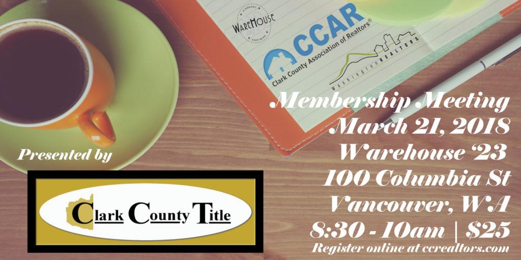 Membership Meeting March 21, 2018